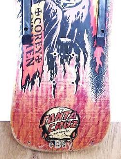 Vintage original Santa Cruz Corey O'Brien skateboard deck skull very rare NO RES