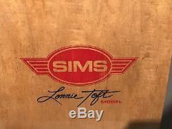 Vintage sims skateboard deck 1978 70s Rare Dead stocks Outrageous 8 Wheeler