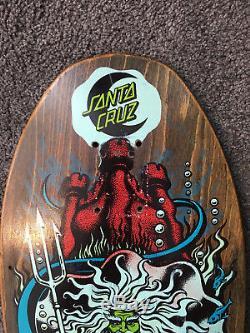 Vintage skateboard Santa Cruz Jason Jessee Neptune shark tail OG 1988