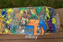 Vintage skateboard deck World Industries Mike Vallely Barnyard OG early 90's