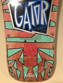Vision Gator Mark Rogowski Skateboard Deck 1988 Vintage Original Swirl Shapes OG