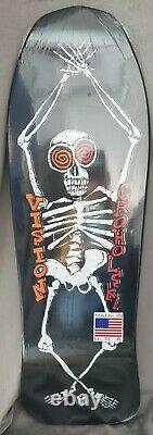 Vision Tom Groholski Skeleton Old School Reissue Deck Black Dip 10 x 31