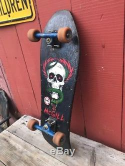 Vtg 80s Mike McGill Powell Peralta Bones Brigade Skateboard 1986 Rare Orig Deck