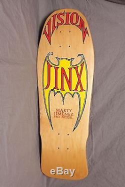 Vtg Vision Marty JINX Jimenez Bat NOS Skateboard Deck'88 Skate Gonz old school