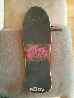 Wow! 80's Alva Bill Danforth Circle of Skulls Mini Skateboard Deck