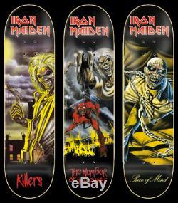 ZERO x Iron Maiden Limited Edition Full Series Set 3 Skateboard Decks