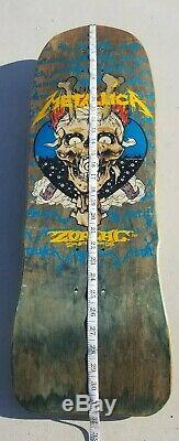 ZORLAC MEGA METALLICA SKATEBOARD DECK NOS vintage rare pushead alva sims g&s og