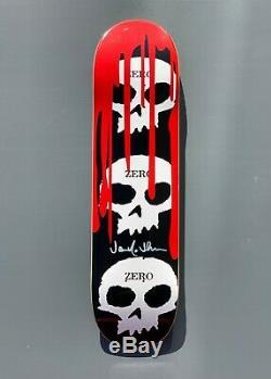 Zero Black'3-skull w Blood' Deck Signed by Jamie Thomas