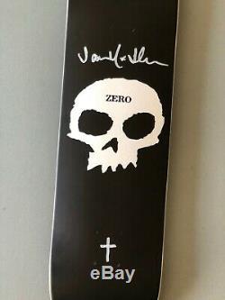 Zero Matte Black Single Skull Deck Signed by Jamie Thomas