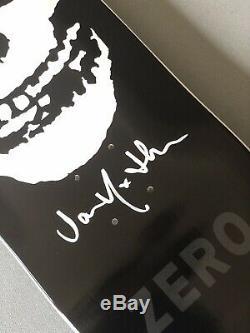 Zero Misfits Fiend Skull deck Signed by Jamie Thomas with Skulls Lyrics