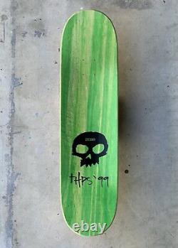 Zero White'3-skull w Blood' Deck Signed by Jamie Thomas