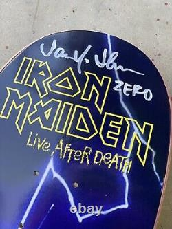 Zero x Iron Maiden Live After Death 1st Edition Deck Signed by Jamie Thomas