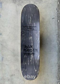Zero x Iron Maiden Trooper 1st Production Sample Deck Signed by Jamie Thomas
