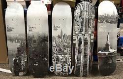 Zoo york skateboards Set Of 5 New York Landmarks Vintage Deadstock 2009